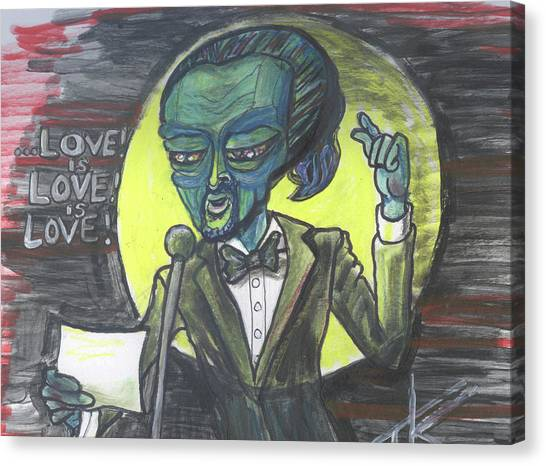 The Alien Lin-manuel Miranda Canvas Print