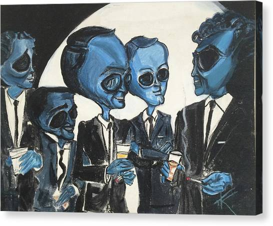 The Alien Rat Pack Canvas Print