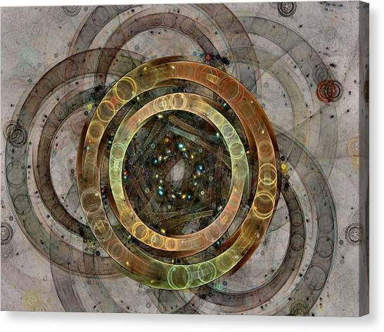 The Almagest - Homage To Ptolemy - Fractal Art Canvas Print
