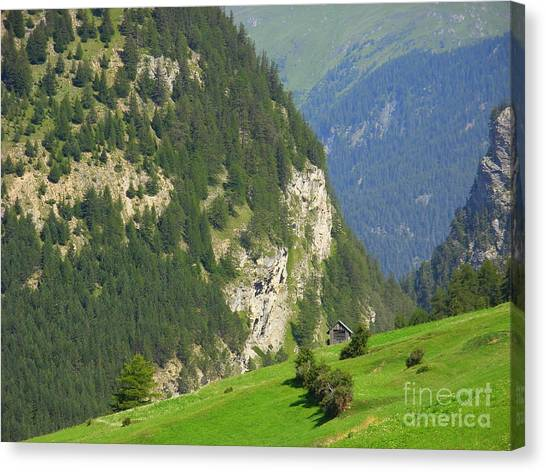 The Alps In Spring Canvas Print
