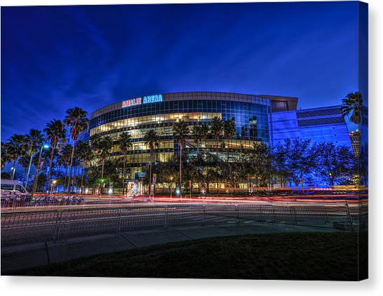 Tampa Bay Lightning Canvas Print - The Amalie Arena by Marvin Spates