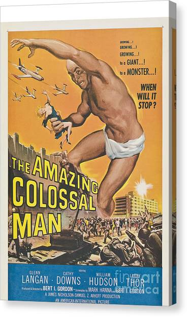 The Amazing Colossal Man Movie Poster Canvas Print