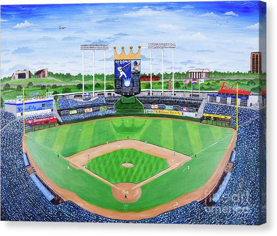 Kansas City Royals Canvas Print - The Amazing Game At The K by Matt Starr