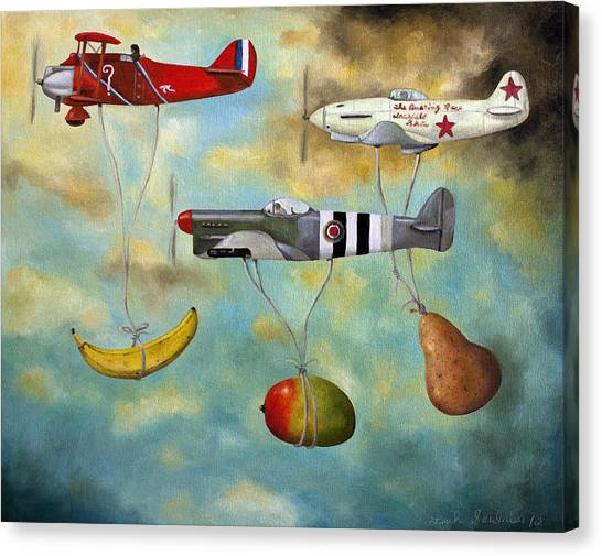 Aircraft Canvas Print - The Amazing Race 6 by Leah Saulnier The Painting Maniac