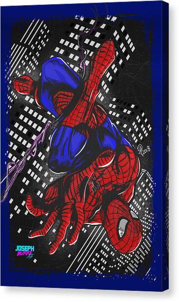 The Amazing Spider-man Canvas Print by Joseph Burke