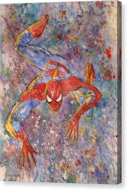 James Franco Canvas Print - The Amazing Spider Man by Robert Hogg