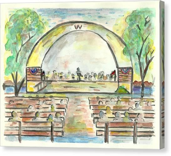 The Amazing Worthington City Band Canvas Print