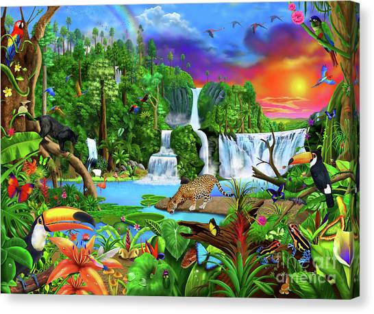 Toucans Canvas Print - The Amazon by Gerald Newton