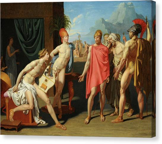 Artemis Canvas Print - The Ambassadors Of Agamemnon In The Tent Of Achilles by Jean-Auguste-Dominique Ingres