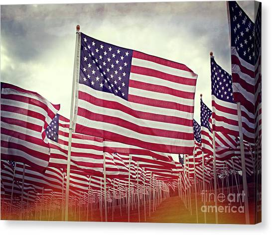 Libertarian Canvas Print - The American Flag Proudly Stands by Luther Fine Art