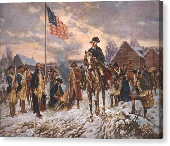 18th Century Canvas Print - The American Revolution, George by Everett