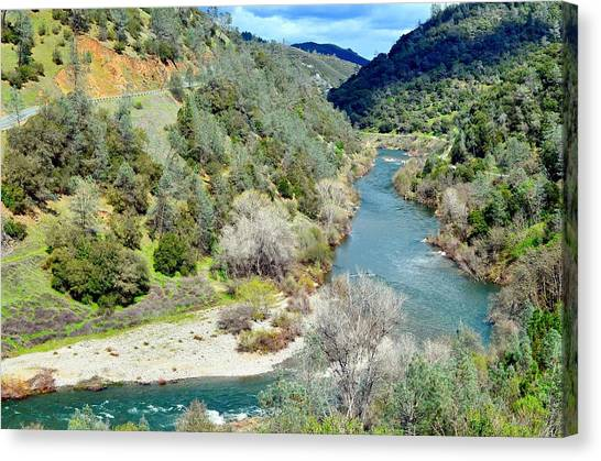The American River Canvas Print