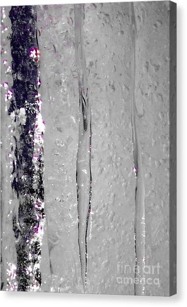 The Wall Of Amethyst Ice  Canvas Print