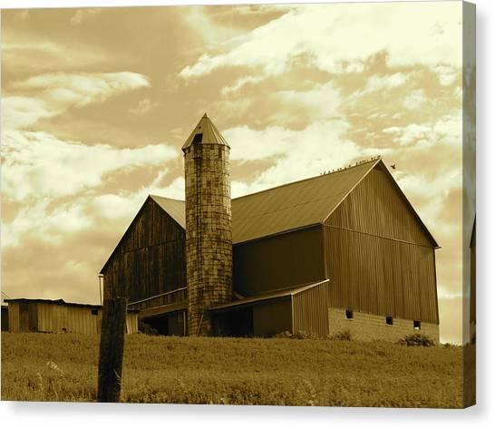 The Amish Silo Barn Canvas Print