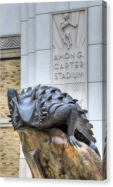 Texas Christian University Canvas Print - The Amon G Carter Stadium by JC Findley