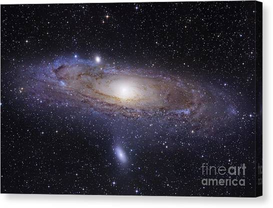 Spiral Canvas Print - The Andromeda Galaxy by Robert Gendler