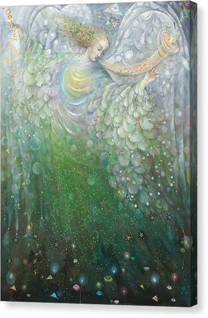 Sprite Canvas Print - The Angel Of Growth by Annael Anelia Pavlova