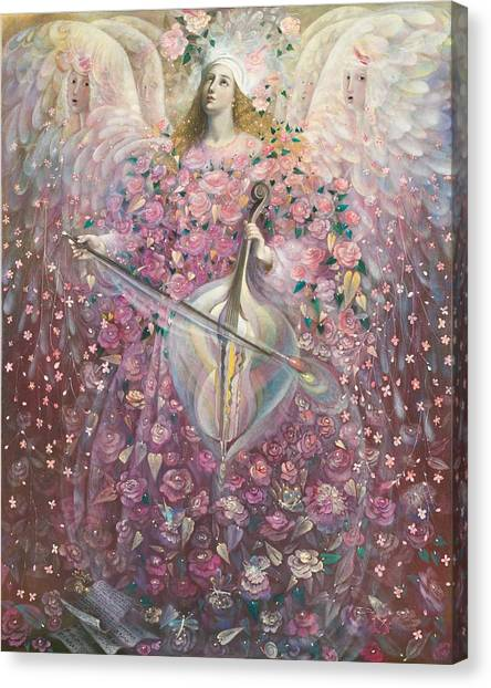 Cellos Canvas Print - The Angel Of Love by Annael Anelia Pavlova