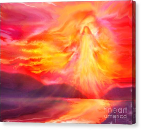 The Angel Of Protection Canvas Print