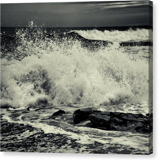 The Angry Sea Canvas Print