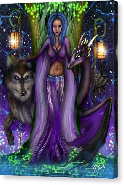 The Animal Goddess Fantasy Art Canvas Print