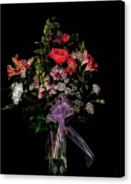 The Anniversary Bouquet Canvas Print by Carol A Commins