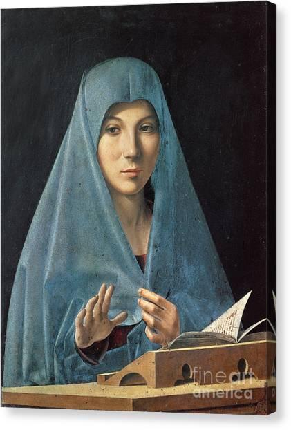 The Annunciation Canvas Print - The Annunciation by Antonello da Messina