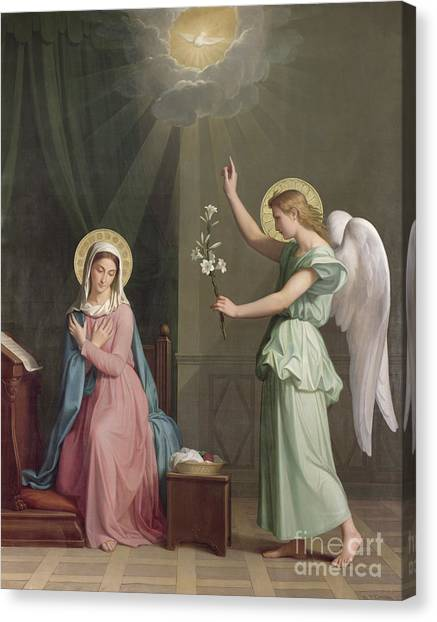 Angel Canvas Print - The Annunciation by Auguste Pichon