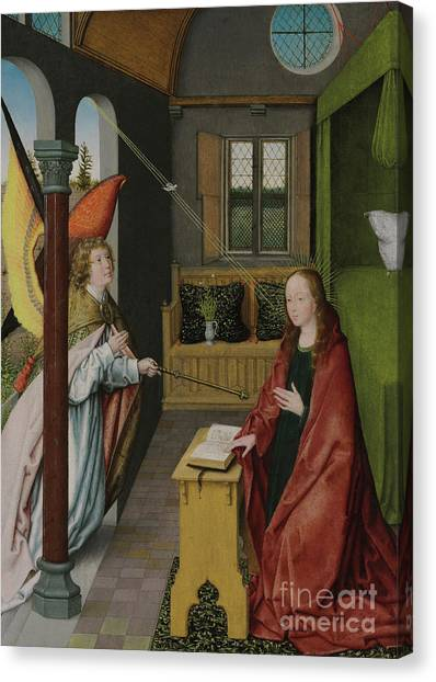 The Annunciation Canvas Print - The Annunciation by Jan Provost