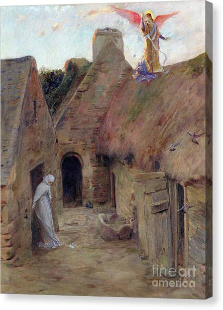 Archangel Canvas Print - The Annunciation by Luc Oliver Merson