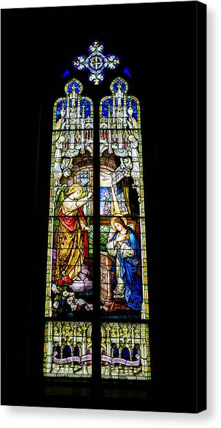 Incarnation Canvas Print - The Annunciation - St Mary's Church by Stephen Stookey