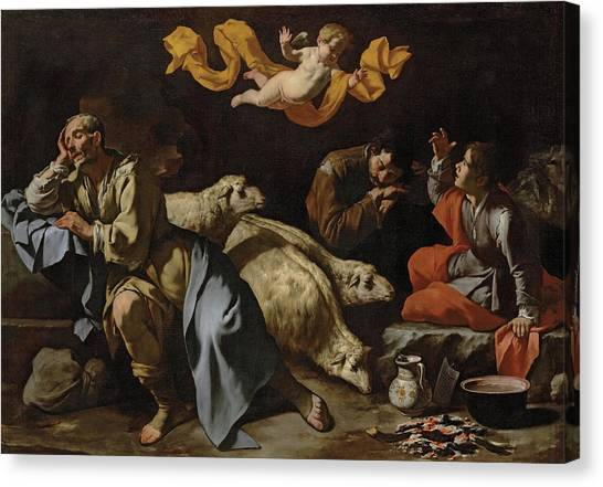 The Annunciation Canvas Print - The Annunciation To The Shepherds by Master of the Annunciation to the Shepherds
