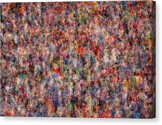 The Anonymous Croud Canvas Print by Denis Bouchard