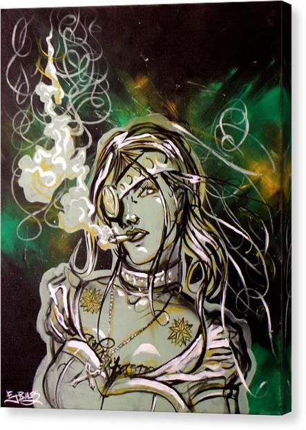 The Anti-heroine Canvas Print by Ericka Bales