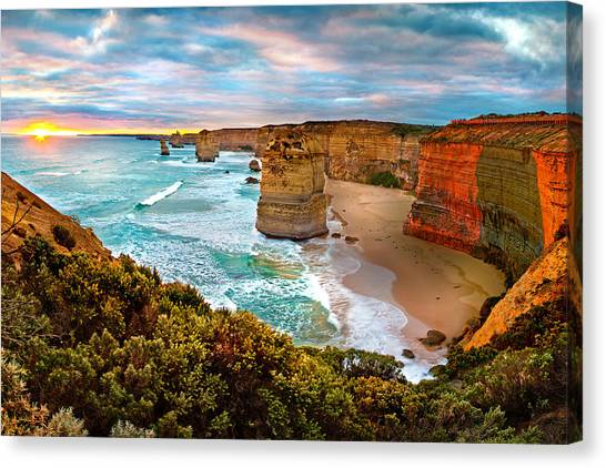 Australian Canvas Print - The Apostles Sunset by Az Jackson