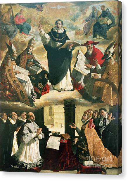 Bishops Canvas Print - The Apotheosis Of Saint Thomas Aquinas by Francisco de Zurbaran