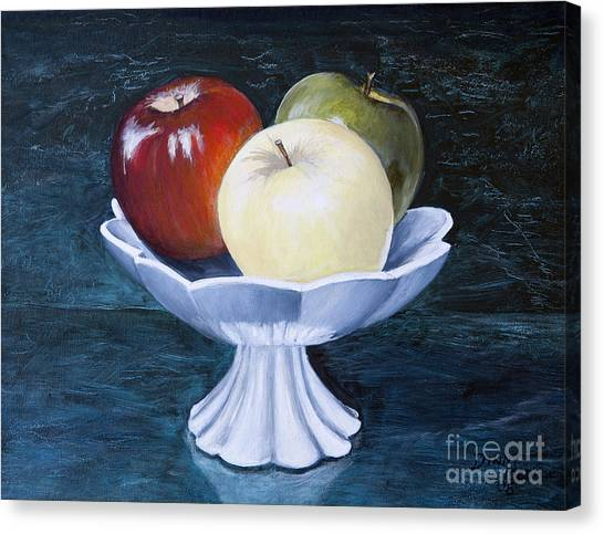 The Apple Dish Canvas Print by Dinny Madill