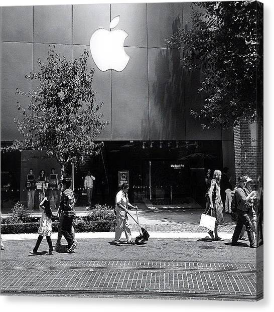 Mac Canvas Print - The Apple Store by Ric Spencer