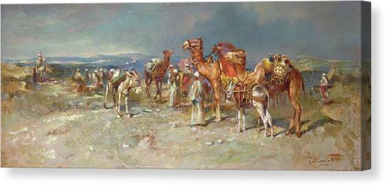 Arabian Desert Canvas Print - The Arab Caravan   by Italian School