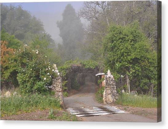 The Arbor In The Morning Canvas Print