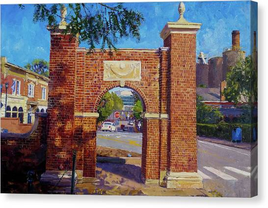 University Of Virginia Canvas Print - The Arch At The Corner by Edward Thomas