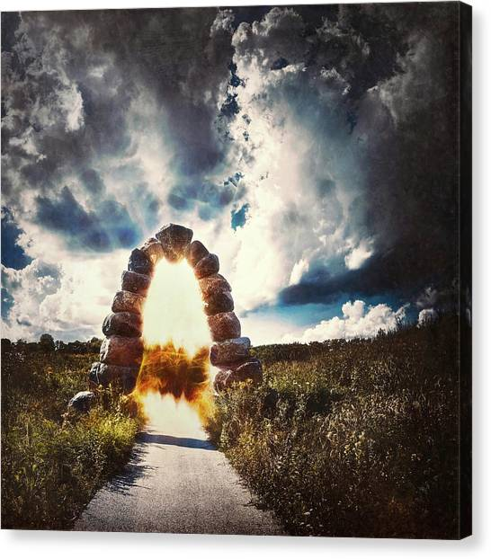 Door Canvas Print - The Arch On The Edge Of Forever by Scott Norris
