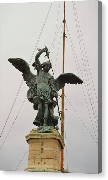 The Archangel Michael Canvas Print by JAMART Photography