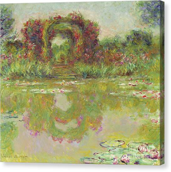 Murky Canvas Print - The Arches Of Roses, Giverny, The Flowering Arches, 1913  by Claude Monet