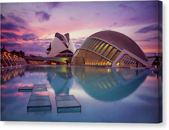 The Architecture Of Modern Valencia Spain  Canvas Print by Carol Japp