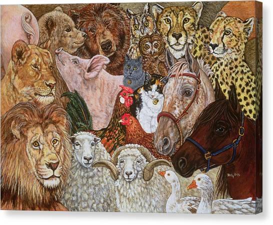 Noah Canvas Print - The Ark Spread by Ditz