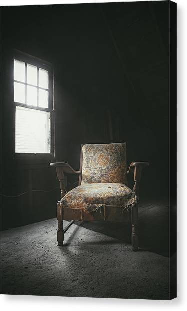 Carpet Canvas Print - The Armchair In The Attic by Scott Norris