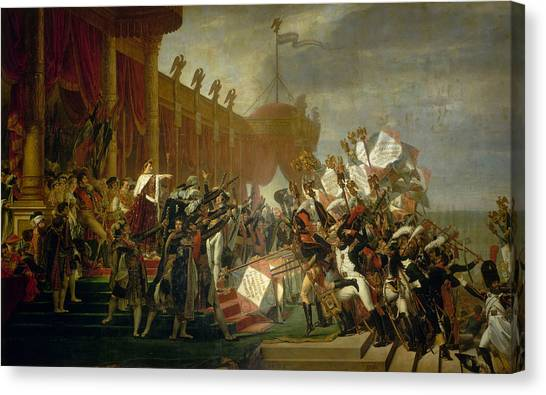 Neoclassical Art Canvas Print - The Army Takes An Oath To The Emperor After The Distribution Of Eagles, 5 December 1804 by Jacques-Louis David