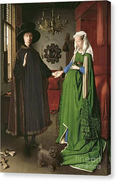 Couple Canvas Print - The Arnolfini Marriage by Jan van Eyck