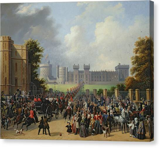 Royal Guard Canvas Print - The Arrival Of Louis-philippe by Edouard Pingret